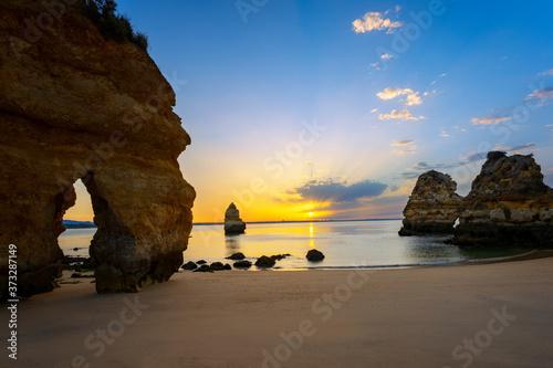 Fototapeta View of famous Camilo beach at sunrise obraz