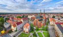 Legnica, Poland. Aerial Panora...