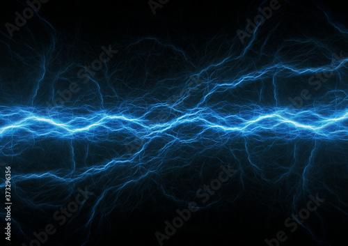 Fotografie, Obraz Blue lightning, plasma electrical abstract