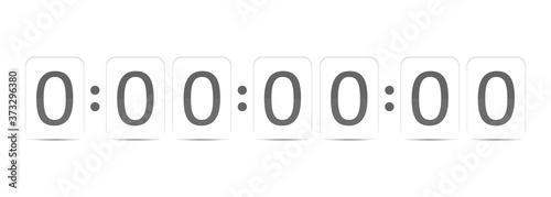 Obraz na plátně vector image of a timer with a countdown to the deadline