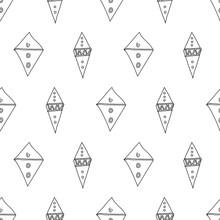 Doodle Pattern Filled Diamond ...
