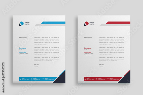 Obraz na plátně Abstract Corporate Business Style Letterhead Design Vector Template For Your Project
