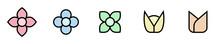 Conjunto De Iconos De Flores Y...