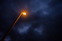 Yellow Light Of Street Lamp Wi...