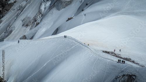 Fotografie, Obraz Aiguille du Midi in Chamonix, France