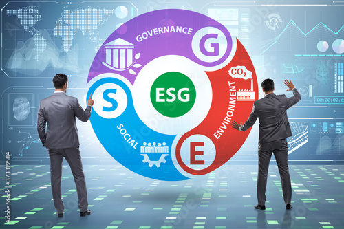 ESG concept as environmental and social governance with business Fototapete