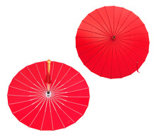 Red Umbrella With Tussle