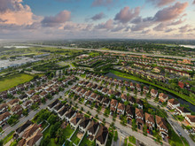 Aerial Photo Of Residential Homes In Miramar Florida USA
