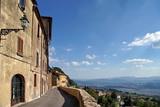Fototapeta Uliczki - Charming narrow streets of Volterra town in Tuscany Italy