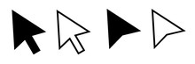 Cursor Mouse Pointer Icon Vector Illustration. Pointer Cursor Icons. Web Arrows Cursors. Cursor Click.