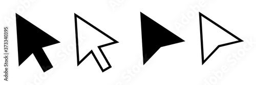 Fotografie, Obraz Cursor mouse pointer icon vector illustration