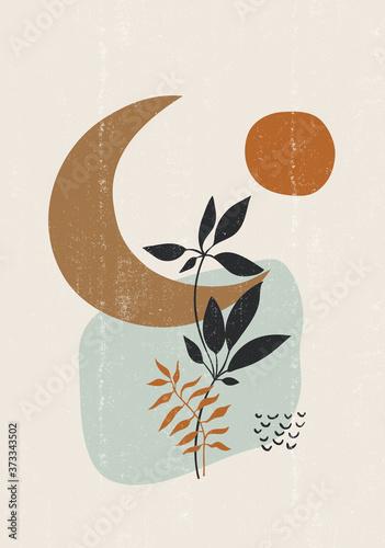 Fotografía Botanical print boho minimalist printable wall art