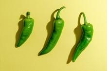 Green Chili Or Chilli Pepper O...