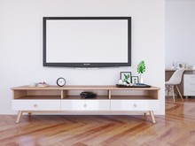 Interior Living Room And Telev...