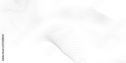 Tablou Canvas Abstract grey background poster with dynamic waves