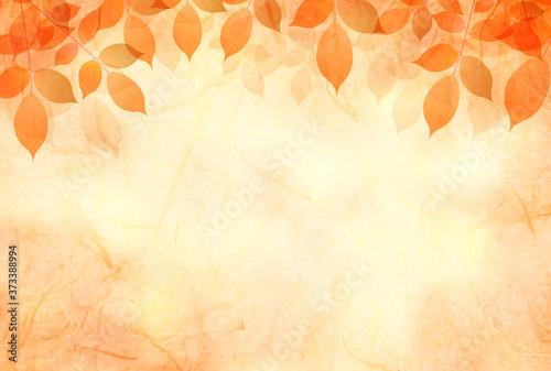 紅葉 和柄 水彩 背景 Tableau sur Toile