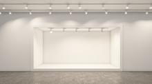 Empty White Studio Backdrops A...