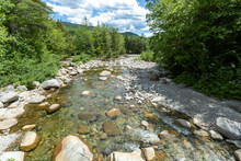 Lincoln Brook And Franconia Branch Meet Hte East Branch Pemigewasset River, With The Franconia Brook Tentsite At The Intersection