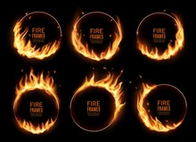 Fire Rings, Burning Vector Rou...