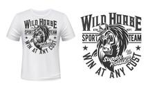 Horse Mustang Mascot T-shirt P...
