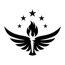 Torch Wing Creative Logo Concept