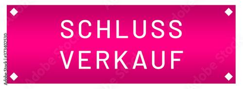 Fotografie, Obraz Schlussverkauf web Sticker Button