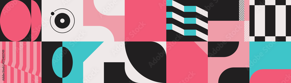 Deconstructed Abstract Vector Pattern Design