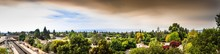 Panoramic View Of Smoke Cloud ...