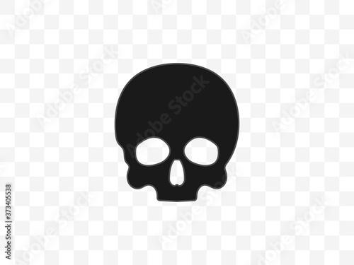 Cuadros en Lienzo Skull, bone, halloween icon. Vector illustration, flat design.