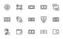 Simple Set Of Dollar Icons In ...