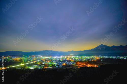 秩父夜景 Fototapeta