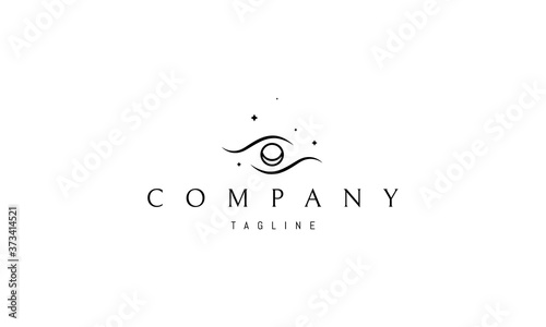 Canvastavla Vector logo on which an abstract image of an eye in space.