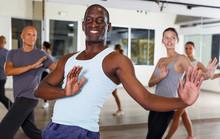 Happy Adult Dancing People Pra...