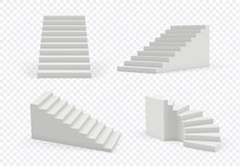 Stairs Realistic. Architectura...