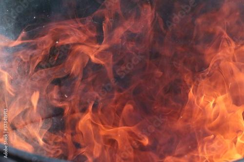 Carta da parati A close up of a fire