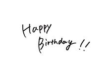 Happy Birthdayの手書き文字