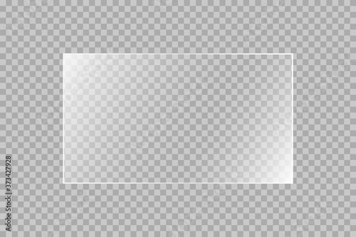 The texture of rectangle glass plate, mirror, windows Fototapet