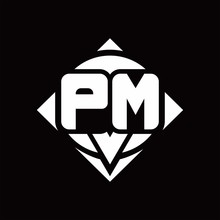 PM Logo Monogram With Circle S...