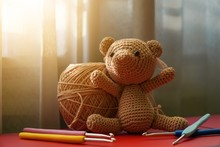 Handcrafted Cute Crochet Brown...