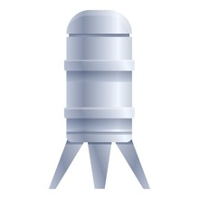 Space Tank Station Icon. Cartoon Of Space Tank Station Vector Icon For Web Design Isolated On White Background