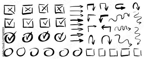 Photographie Vector checklist marks icon set