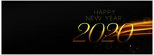 Happy New Year Black And Gold ...