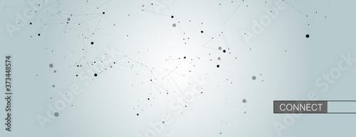Obraz na plátně Connect dots background