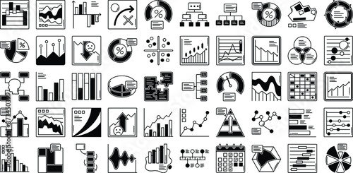 Foto Graph Vector icons set every single icon can easily modify or edit