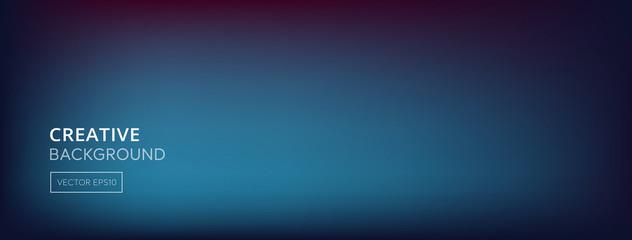 Abstract blend dark blue purple gradient banner background