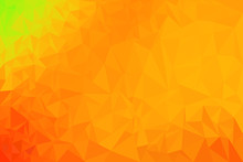 Abstract Orange Shade Polygon ...