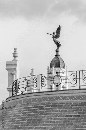 Detail of the alicia alonso theater in black and white Canvas Print