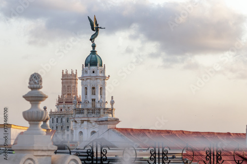 Photo Detail of the Alicia Alonso theater with sunset