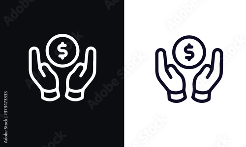 Fotografia business and investmen icons vector