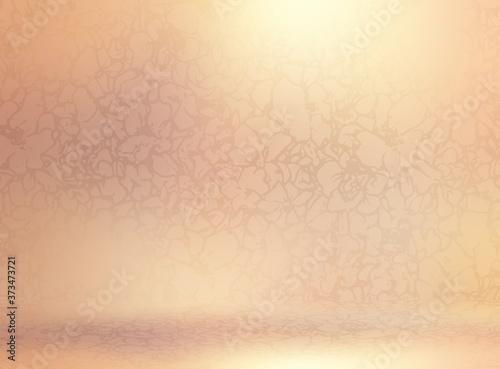 Obraz na plátně Golden polished glass half transparent texture cover matte floral pattern